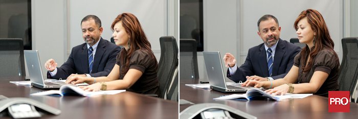 Corporate stock people meeting