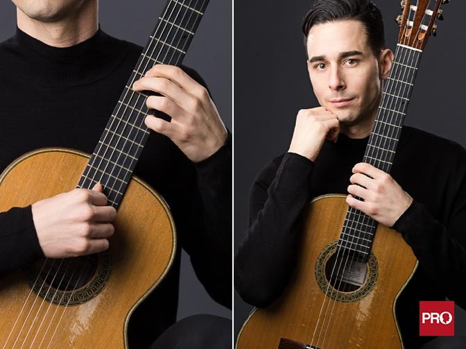 Classical guitarist musician portraits