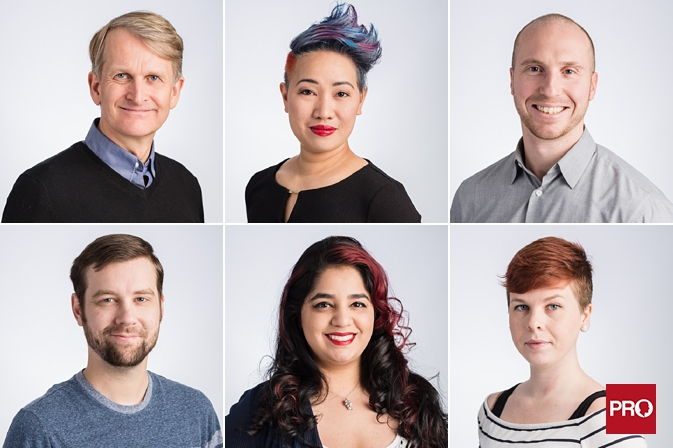 mobile headshots for a high-tech software company