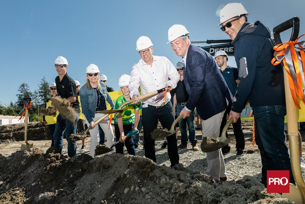 corporate ground breaking event photo